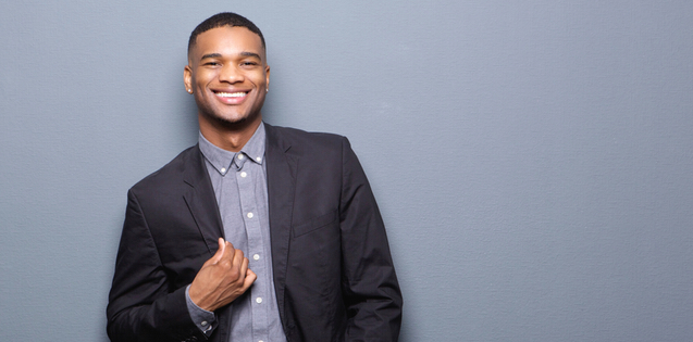 young adult african american man